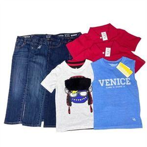 Boy's 7 Piece Jeans and T-Shirt Bundle